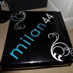 Milan 44 Kirin White Letherette thigh boots 9